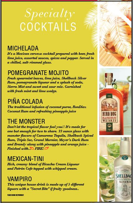 margaritas concept 2: graphic design