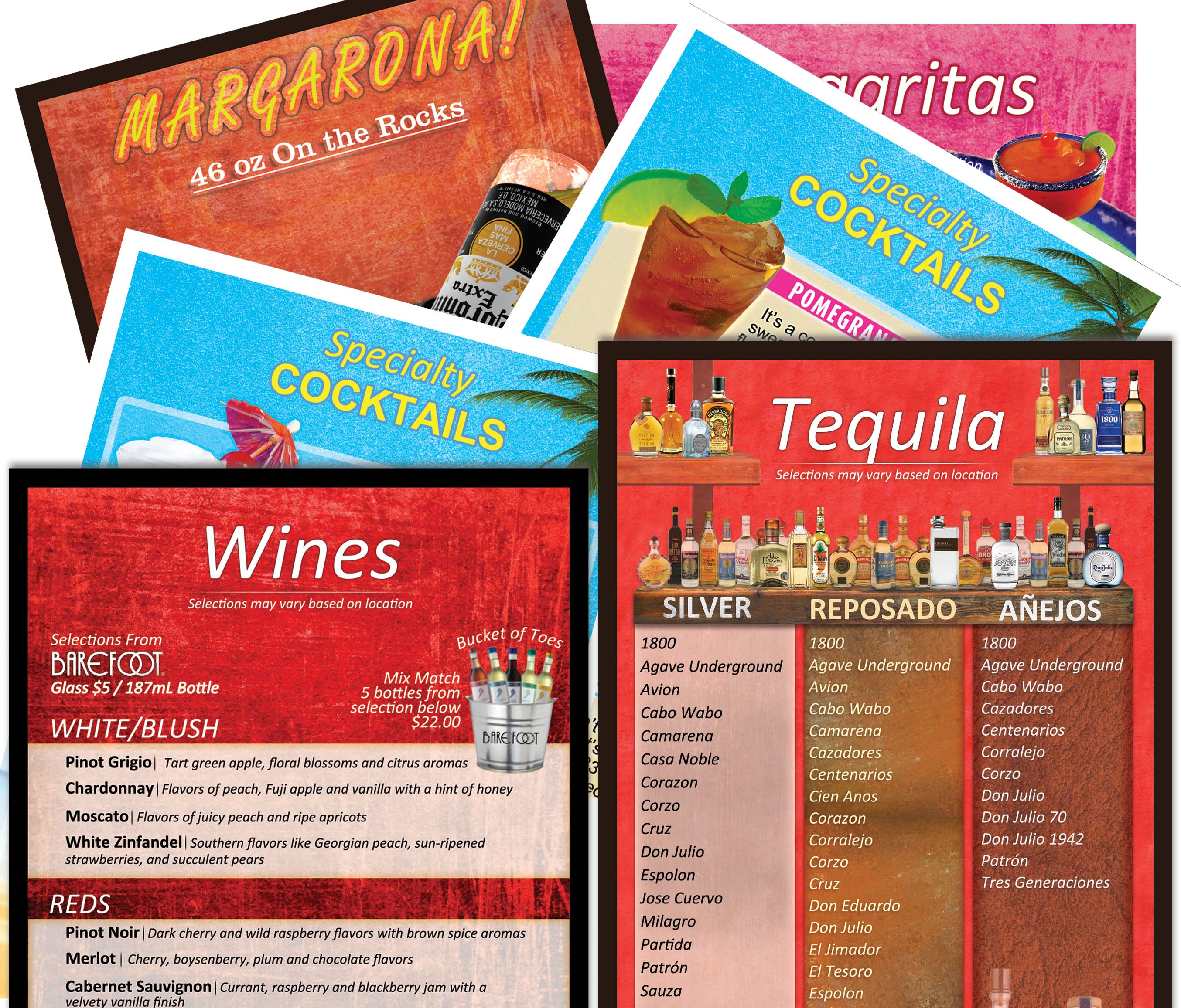 El Salto Drink Menu