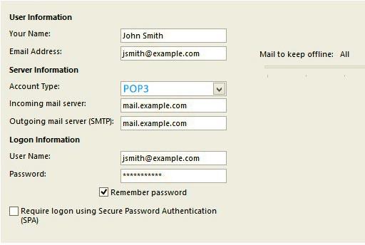 outlook-email-setup-for-2013-user-info