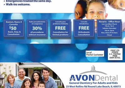 eddm mailers for Avon Dental