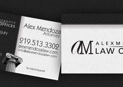 alex mendoza law business card design