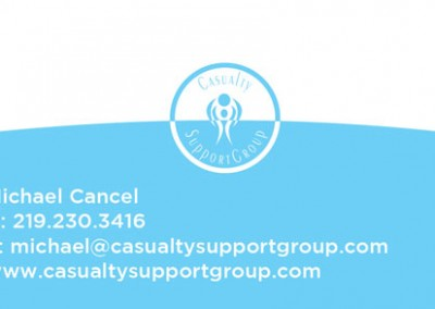 casualty support group business card