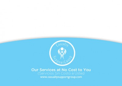 casualty support group post card